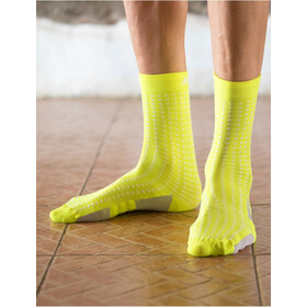 Santini Dryarn Mid Socks Herre giallo fluo